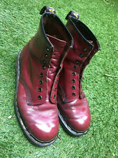 Vtg original Dr Martens Cherry red leather Air wair boots size 7