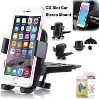Universal 360° Rotating CD Slot Mount Car Auto Holder Cradle For Cell Phone GPS