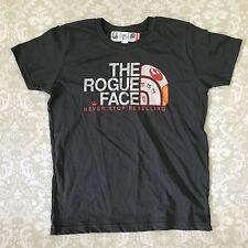 Star wars Rogue face t shirt 12 kids grey never stop rebelling asphalt grey