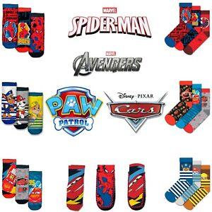 Licensed Kids Boys Multi-Characters Ankle,Anti-Slip & Pack Of 3 Socks Xmas Gift
