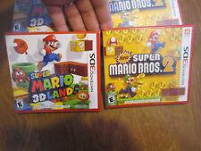 Super Mario 3D Land + New Super Mario Bros. 2 Nintendo 3DS AUTHENTIC SET NEW LOT