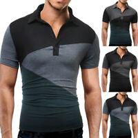 Polo Shirt Men Shirt Slim Fit Short Sleeve Muscle Tee T-Shirt Golf Top Blouse UK