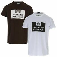 Men's Weekend Offender Tadmur 2 Pack Cotton T-Shirts in White and Green