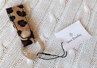 Vera Bradley Loop Keychain Leopard Spots Beige Snap Closure NWT MSRP $16