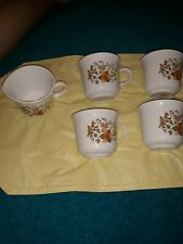 4 Indian Summer Corell Coffee cup And Creamer