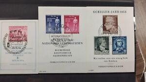 DDR 1954/55 BLOCK 10XII + 11XI + 12XI MIT PF IV ALLE SONDERSTEMPEL