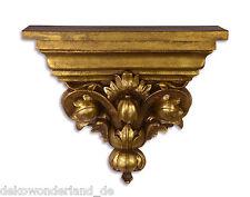 Consola de pared Estantería Estante Decoración Oro Estilo Antiguo Vintage Barock