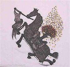ANDREW SCHOULTZ 'Horse' Artist Silkscreen T-Shirt Adult LARGE White *NEW*