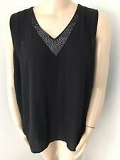 WOMENS MILLERS BLACK EMBELLISHED SMART SIZE 20 TOP NEW WITH TAGS
