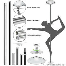 45mm Chrome Finish Dance Pole Full Kit Removable Stripper Dancing