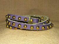 Purple Studded Leather Wrap Bracelet