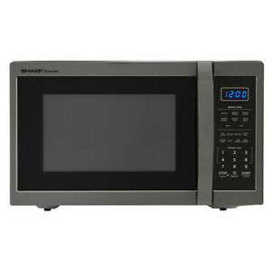 Sharp SMC1452CH 1.4 cu.ft. 1100W Black Stainless Steel Countertop Microwave Oven