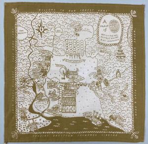 Hazel Village Map 2018 Scarf Hanky Handkerchief Pocket Square Organic Cotton toy