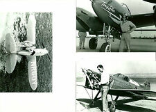 TONY LEVIER, LEE MILES & JIMMIE WEDELL RACING AIRPLANE 8X10 PHOTOGRAPHS #123
