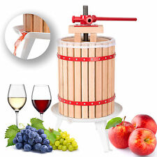 Pressoir à baies fruit jus manuel presse mécanique pommes vin bois de chêne 18 L