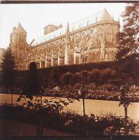 Cattedrale Da Bourges Berry Francia Placca Da Lente Stereo Positive Vintage