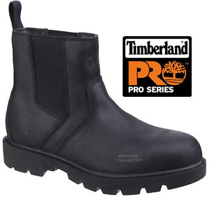 NEW MENS TIMBERLAND SAFETY WORK STEEL TOE CAP DEALER LEATHER SHOES CHELSEA BOOTS