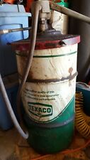 Vintage Texaco Oil Grease Drum Barrel with lid
