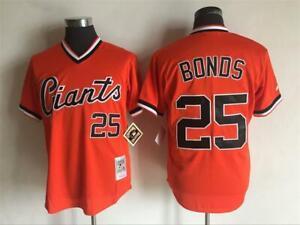 Giants #25 Barry Bonds Jersey Orange Retro Uniform