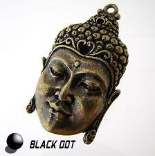 Buda joyas remolque grande metal Matt bronce Buda cabeza 50x30mm