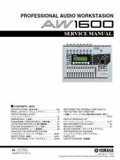 Yamaha AW1600 Digital Audio Workstation Service Manual and Repair Guide