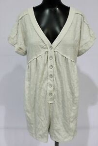 Daily Practice by Anthropologie Women's Lounge Romper CD4 White Medium NWT