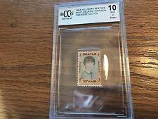 1964 Hallmark Beatles Stamp George Harrison BECKETT 10 MINT Vintage High Grade