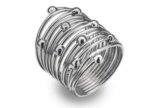 Diamond Ring - IT Diamonds Spring ring with GENIUNE diamond Accent