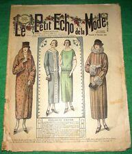 c1924 Great Art Deco Gatsby Jazz Era French Fashion Newspaper N1