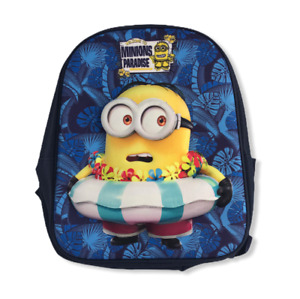 Kinderrucksack Minions 3D, Kindergartentasche Beutel Bag Rucksack Geschenk Junge