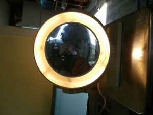 Pre-owned Vintage Hartman Products LM40 Cream DBL sided Light-Up Makeup Mirror