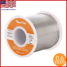 "60/40 Tin Lead Rosin Core Solder Wire Soldering Sn60 Pb40 Flux .023""/0.6mm 1LB"