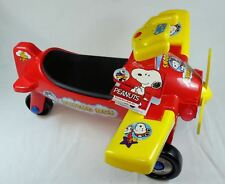 Peanuts Flying Ace Fly with Snoopy Toddler Ride-On Toy Airplane