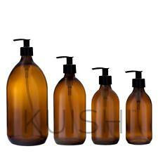 Kuishi Amber Glass Soap Dispenser Pump Bottle