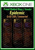 DIABLO 3 ROS - XBOX 1- FULLY PRIMAL MODDED RINGS AND AMULET - EPIDEMIC  - LOOK!
