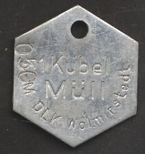 Original müllmarke jeton prescripteurs wolmirstedt 1 bac à ordures 0,50m