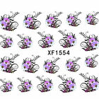 Sweet Nail Art Sticker Water Transfer Stickers Flower Decals Tips Decoration FT7