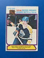 Wayne Gretzky 1980-81 O-Pee-Chee Hockey Card #3 Edmonton Oilers Record Breaker