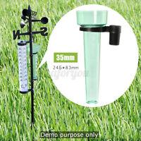 35mm Rain Gauge Rainfall Pro Measurement Weather Station Garden Outdoor ❤