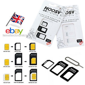 Nano SIM Card to MICRO Standard SIM Adapter converter SET For iPhone & Samsung