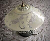 Antique Beautiful 12 glass shade semi-flush Art Deco light fixture chandelier