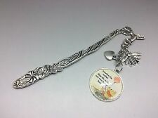 """Winnie the Pooh Quote """"The smallest things"""" Metal Bookmark Gift Silver Bee charm"""