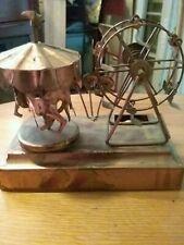 Musical  tin carousel And Ferris Wheel