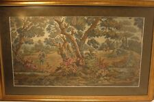 "A Large French Antique Verdure Tapestry of a Woodland Hunting Scene 39"" x 25"""