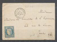 1871 Env. N°37 Obl GC 1325 CAD T16 DONNEMARIE-EN-MONTOIS Seine et Marne X3308