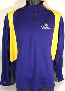 Minnesota Vikings Football Shirt Jacket Windbreaker Pullover NFL Antigua Mens XL