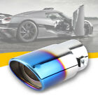 """2.52"""" Round Car Auto Exhaust Pipe Tip Rear Tail Throat Muffler Accessories Parts"""