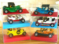 Matchbox models of yesteryears VINTAGE MODEL CARS WITH CLEAR DISPLAY BOX