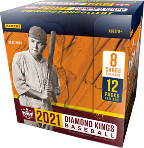2021 PANINI DIAMOND KINGS BASEBALL HOBBY BOX **FREE PRIORITY SHIPPING**
