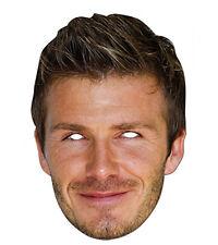David Beckham Celebrity 2D Card Party Face Mask Fancy Dress Up Footballer Star